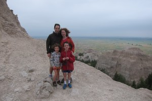 Family in the Badlands